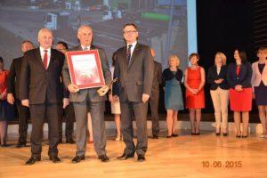 Główna nagroda dla ZUOK RUDNO Sp. zo.o. zajakość zarządzania.