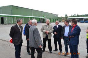 Zarząd Związku Gmnin zwizytą wRudnie oraznastacjach przeładunkowych