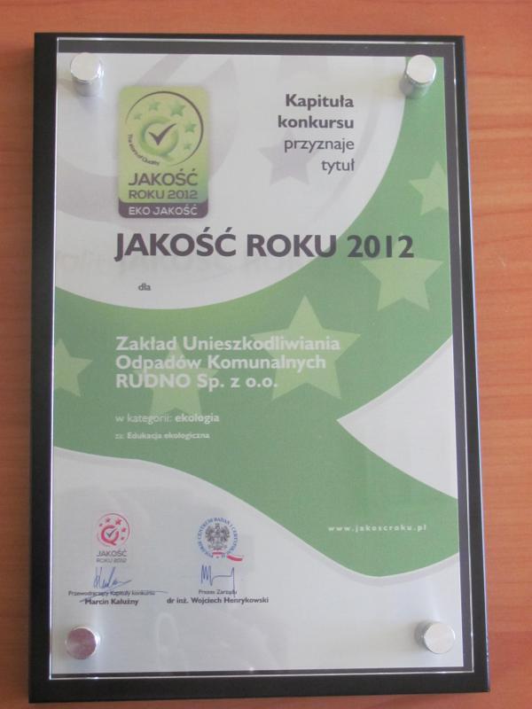 Jakość Roku 2012